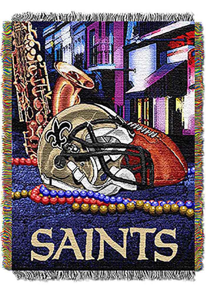 New Orleans Saints 48x60 Home Field Advantage Tapestry Blanket - Image 1