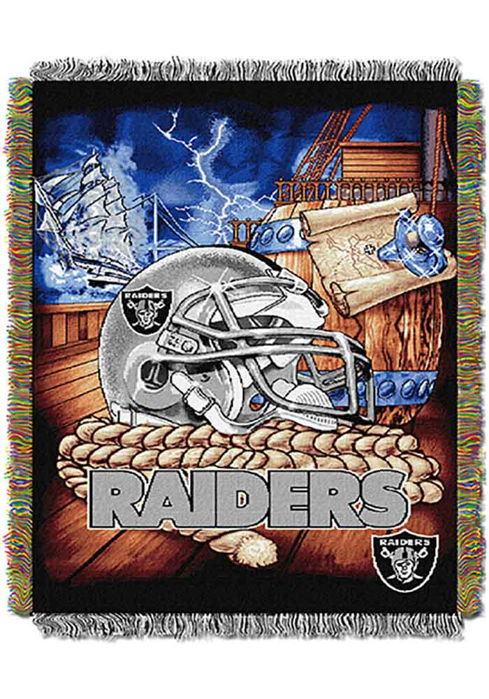 Oakland Raiders 48x60 Home Field Advantage Tapestry Blanket - Image 1