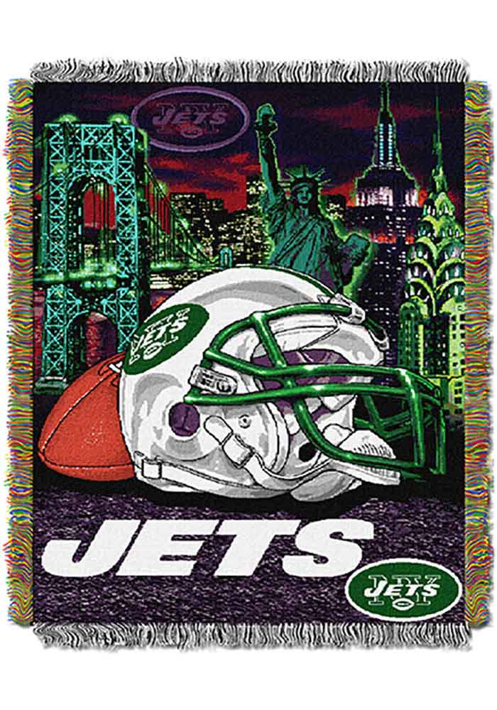 New York Jets 48x60 Home Field Advantage Tapestry Blanket - Image 1