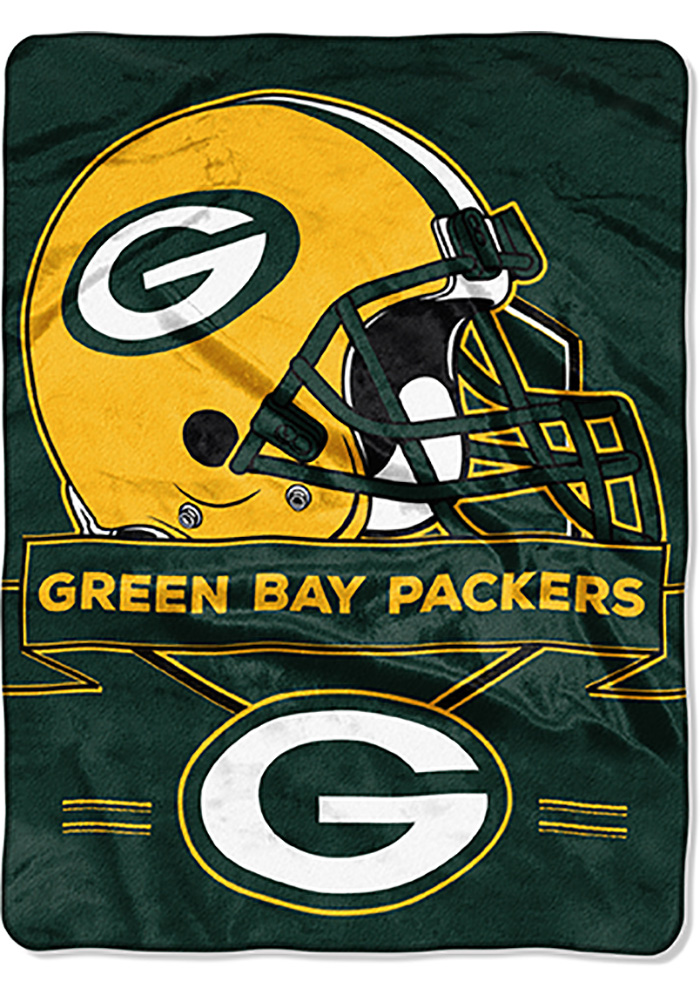 Green Bay Packers 60x80 Prestige Raschel Blanket - Image 1