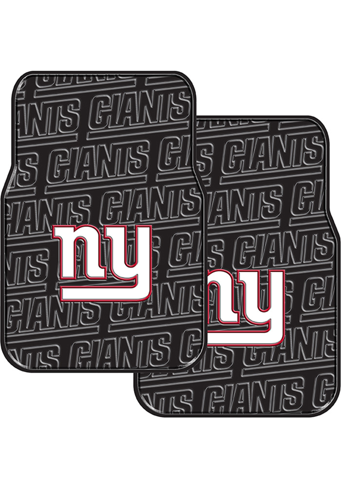 New York Giants 2-Piece Front Car Mat - Black - Image 1