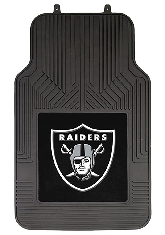 Oakland Raiders 2-Piece Front Car Mat - Black - Image 1