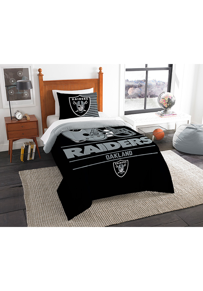 Oakland Raiders Draft Twin Comforter Set Comforter - Image 1