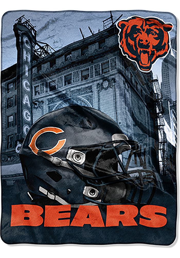 Chicago Bears 60x80 Heritage Silk Touch Throw Blanket - Image 1