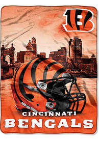 Cincinnati Bengals 60x80 Heritage Silk Touch Throw Blanket