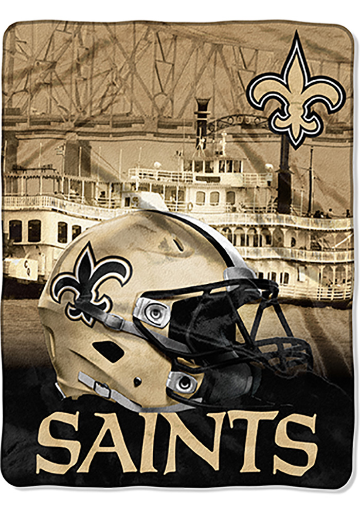 New Orleans Saints 60x80 Heritage Silk Touch Throw Blanket - Image 1