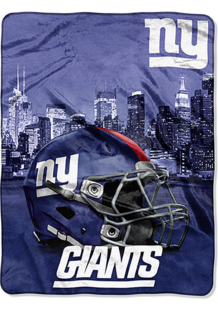 New York Giants 60x80 Heritage Silk Touch Throw Blanket - Image 1