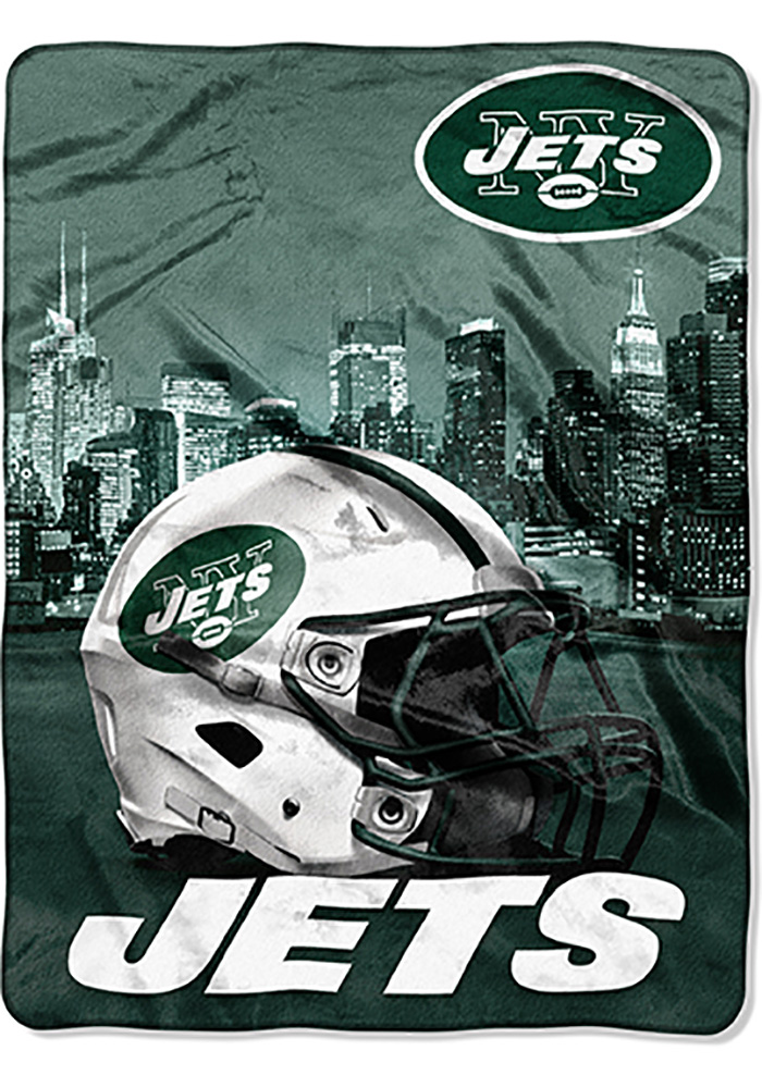 New York Jets 60x80 Heritage Silk Touch Throw Blanket - Image 1