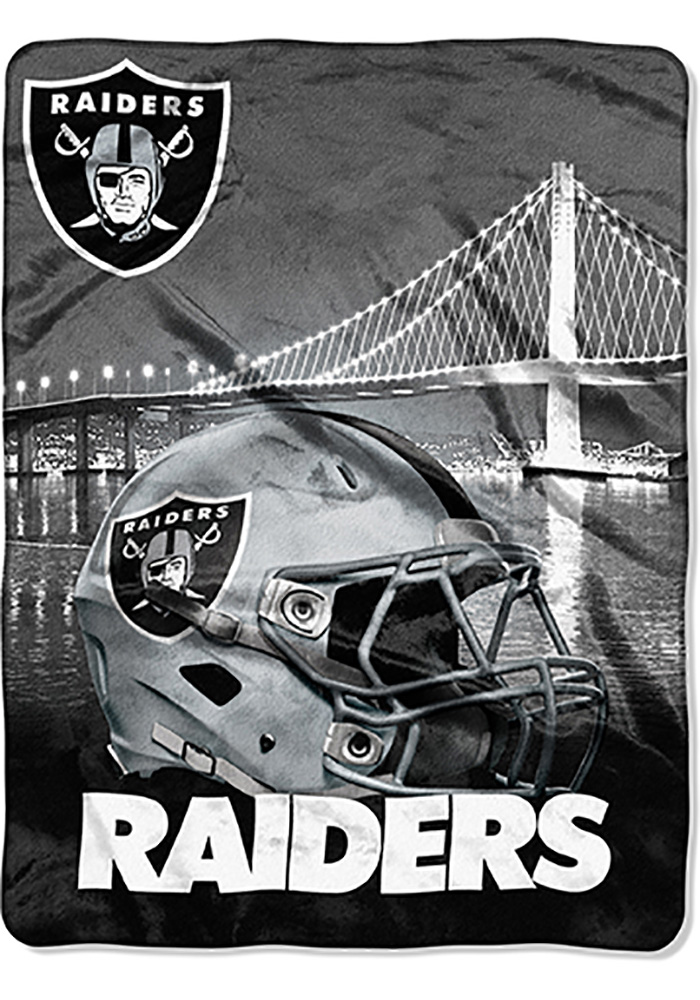 Oakland Raiders 60x80 Heritage Silk Touch Throw Blanket - Image 1
