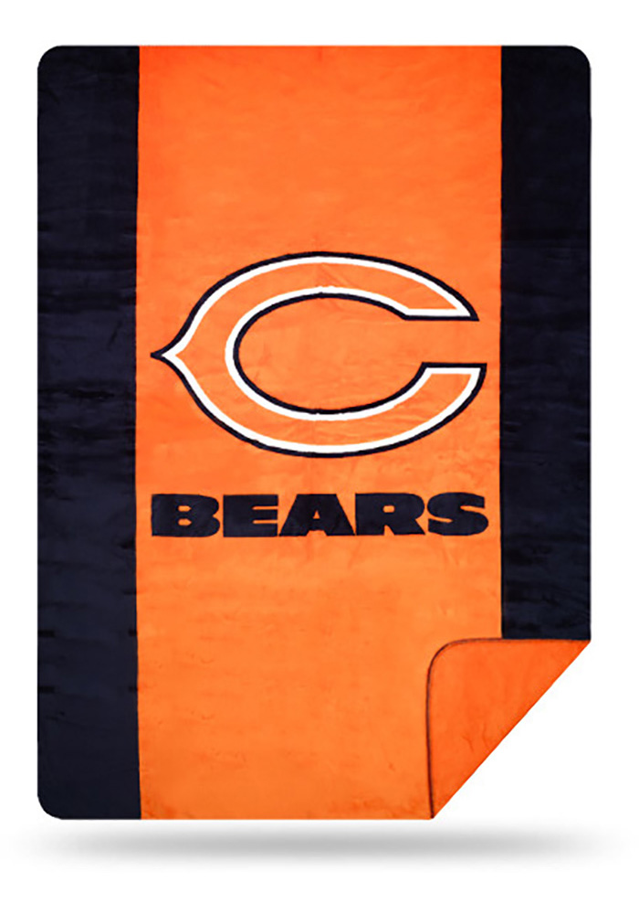 Chicago Bears 60x72 Silver Knit Throw Blanket - Image 1