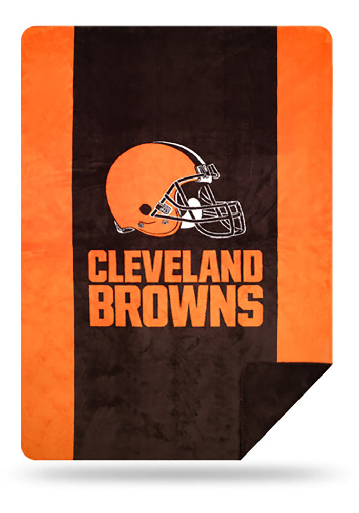 Cleveland Browns 60x72 Silver Knit Throw Blanket - Image 1