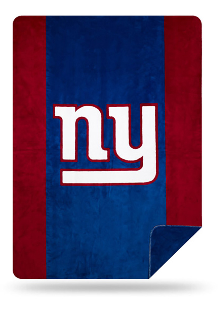New York Giants 60x72 Silver Knit Throw Blanket - Image 1