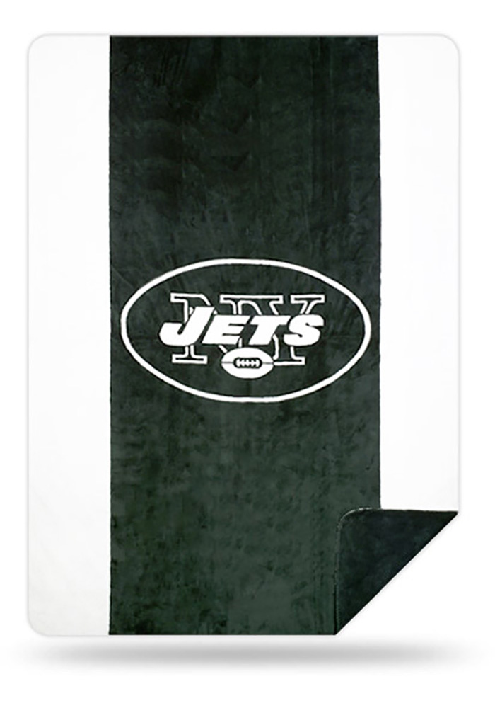 New York Jets 60x72 Silver Knit Throw Blanket - Image 1