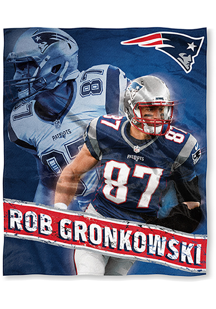 New England Patriots Rob Gronowski 50x60 Silk Touch Fleece Blanket - Image 1