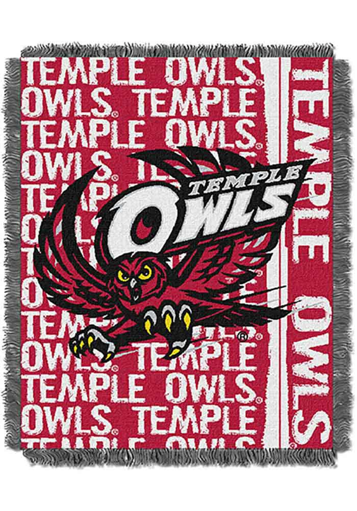 Temple Owls 46x60 Double Play Jacquard Tapestry Blanket - Image 1