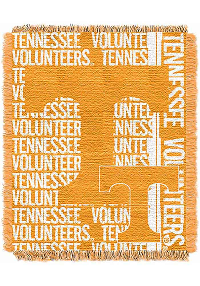 Tennessee Volunteers 46x60 Double Play Jacquard Tapestry Blanket - Image 1