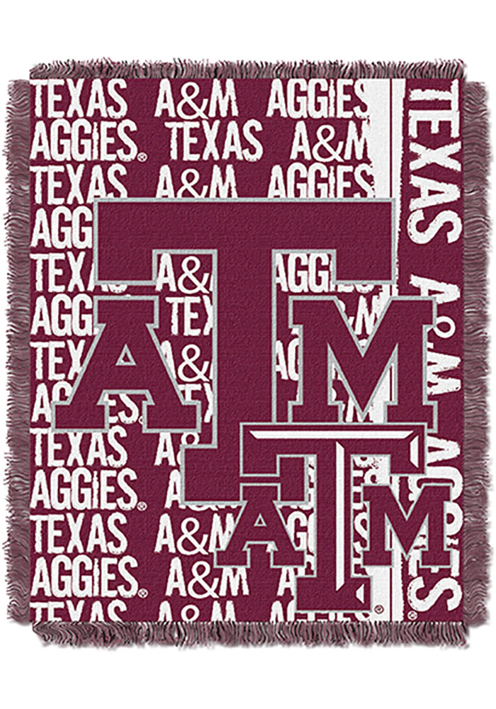 Texas A&M Aggies 46x60 Double Play Jacquard Tapestry Blanket - Image 1