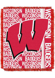 Wisconsin Badgers 46x60 Double Play Jacquard Tapestry Blanket