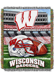 Wisconsin Badgers 48x60 Home Field Advantage Tapestry Blanket