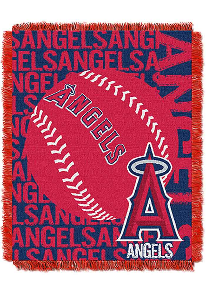Los Angeles Angels 46x60 Double Play Jacquard Tapestry Blanket - Image 1