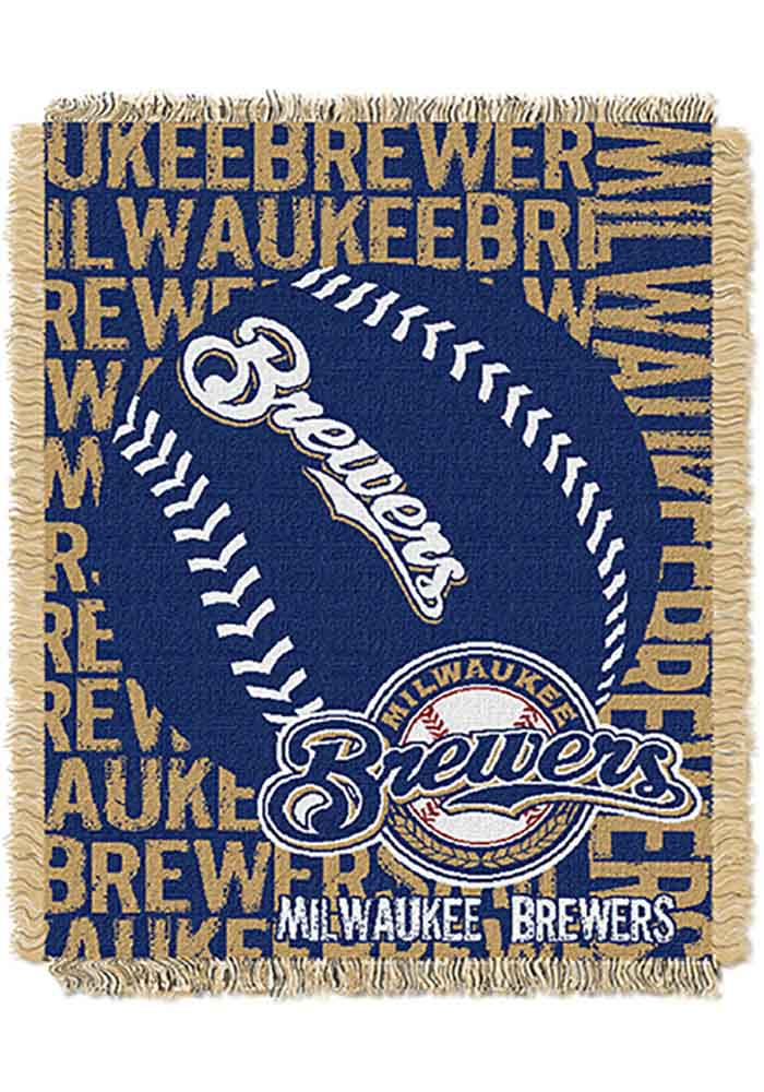 Milwaukee Brewers 46x60 Double Play Jacquard Tapestry Blanket - Image 1