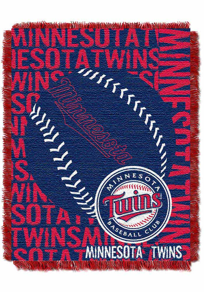 Minnesota Twins 46x60 Double Play Jacquard Tapestry Blanket - Image 1