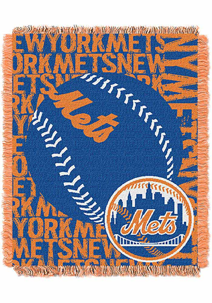 New York Mets 46x60 Double Play Jacquard Tapestry Blanket - Image 1
