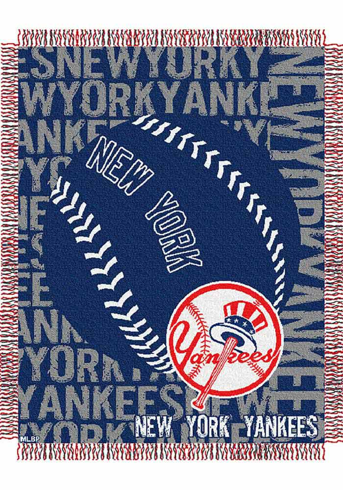 New York Yankees 46x60 Double Play Jacquard Tapestry Blanket - Image 1