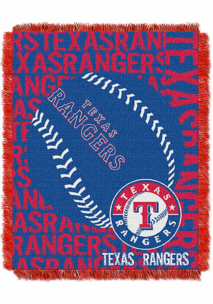 Texas Rangers 46x60 Double Play Jacquard Tapestry Blanket - Image 1