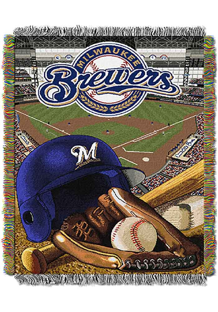 Milwaukee Brewers 48x60 Home Field Advantage Tapestry Blanket - Image 1