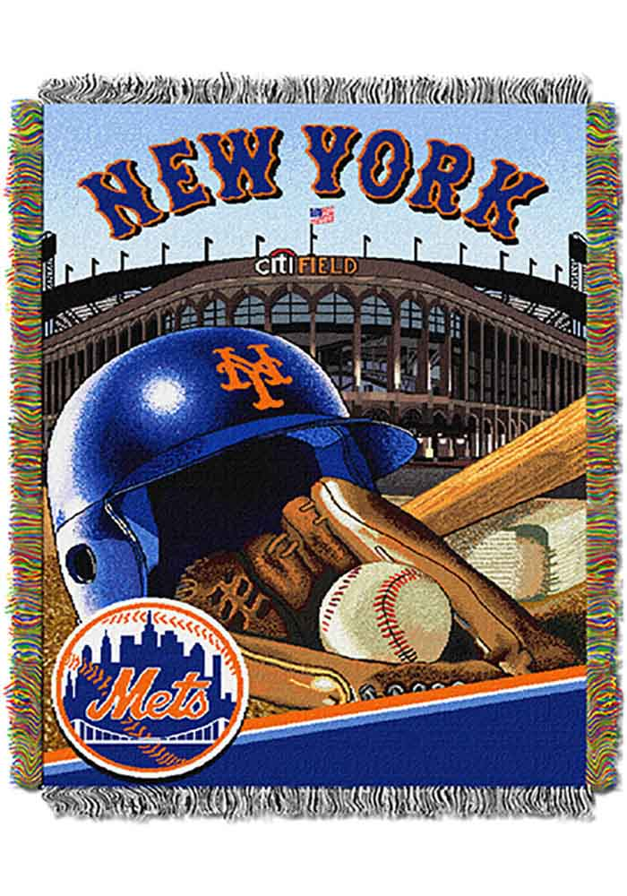 New York Mets 48x60 Home Field Advantage Tapestry Blanket - Image 1
