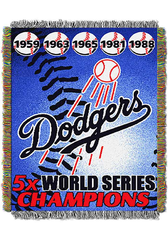 Los Angeles Dodgers 48x60 Commemorative Tapestry Blanket - Image 1