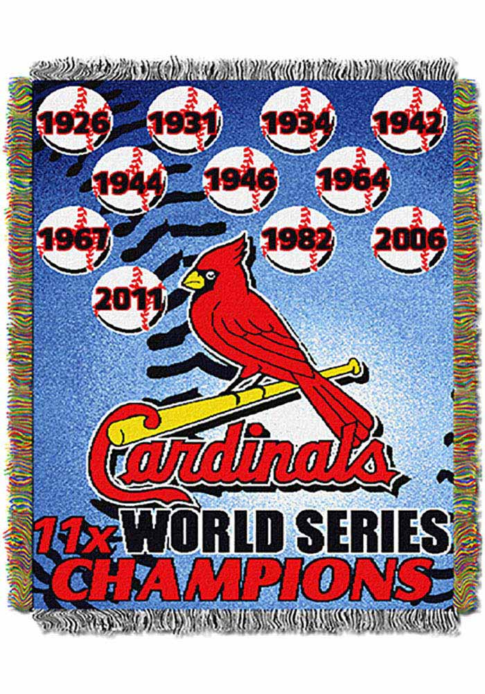 St Louis Cardinals 48x60 Commemorative Tapestry Blanket - Image 1