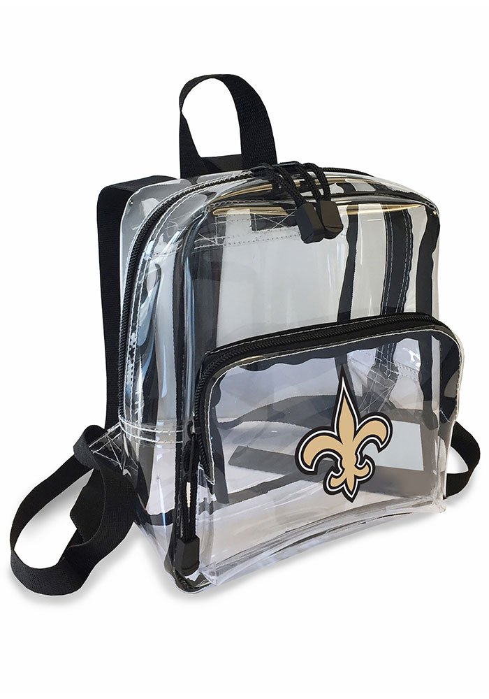 New Orleans Saints White Stadium Approved Mini Backpack Backpack - Image 1
