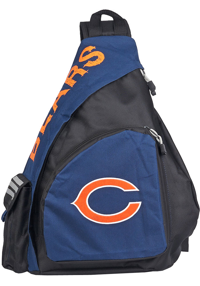 Chicago Bears Navy Blue Leadoff Sling Backpack - Image 1