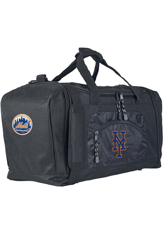 New York Mets Black Road Block Duffel Luggage - Image 1