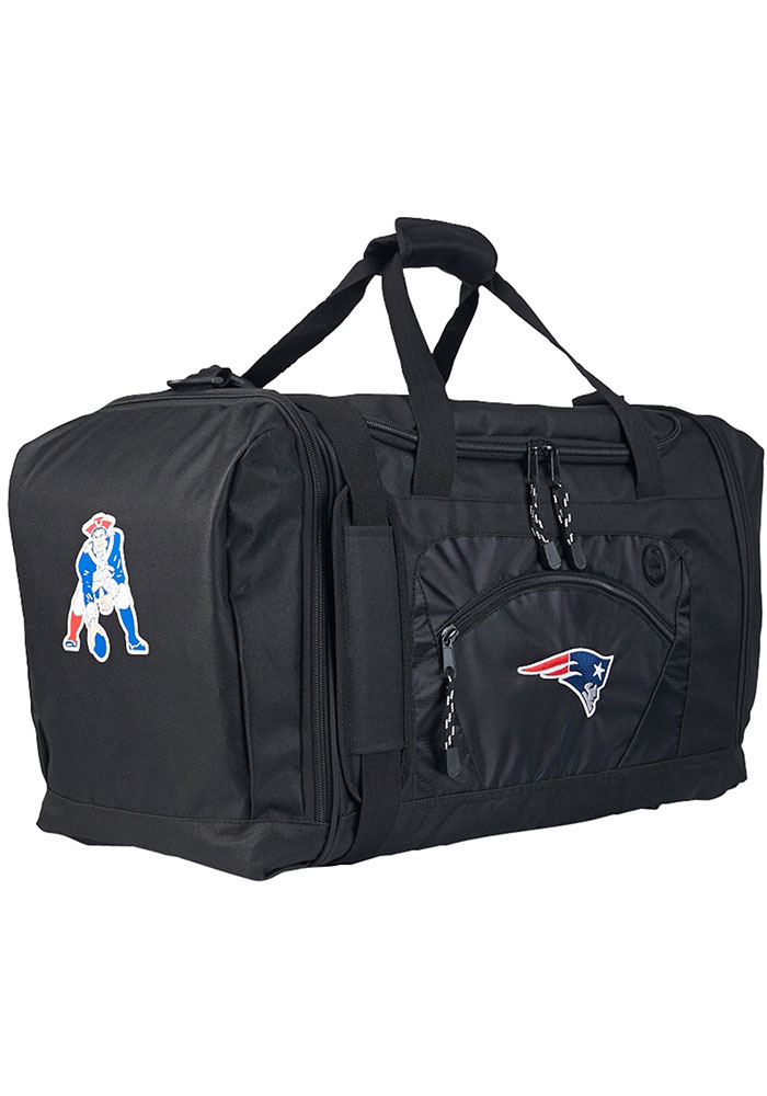 New England Patriots Black Road Block Duffel Luggage - Image 1