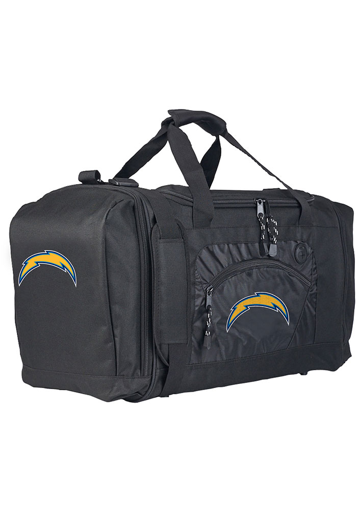 Los Angeles Chargers Black Road Block Duffel Luggage - Image 1