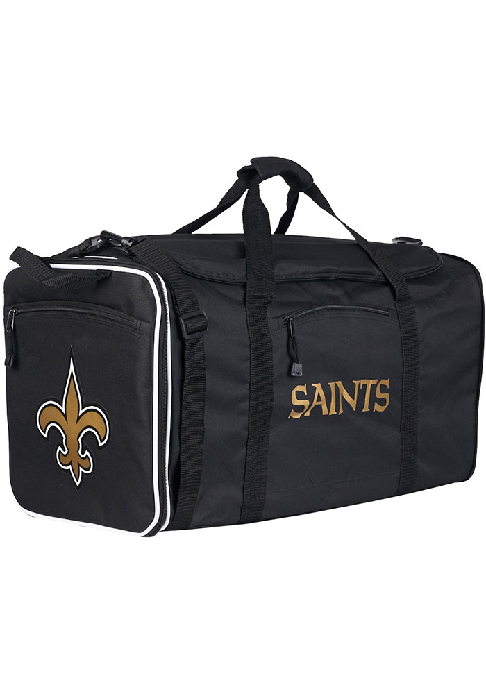 New Orleans Saints Black Steal Duffel Luggage - Image 1