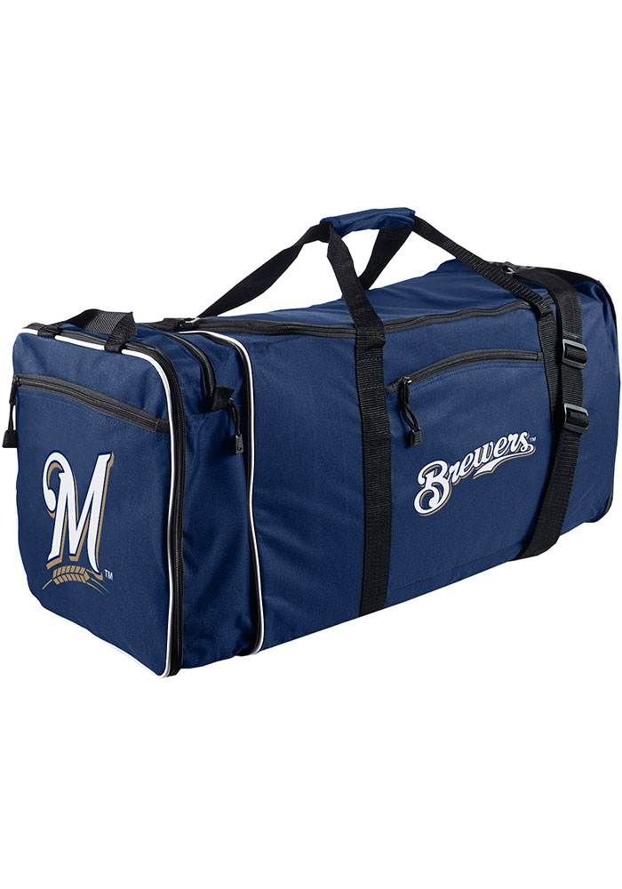 Milwaukee Brewers Navy Blue Steal Duffel Luggage - Image 1