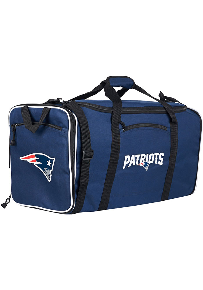 New England Patriots Navy Blue Steal Duffel Luggage - Image 1