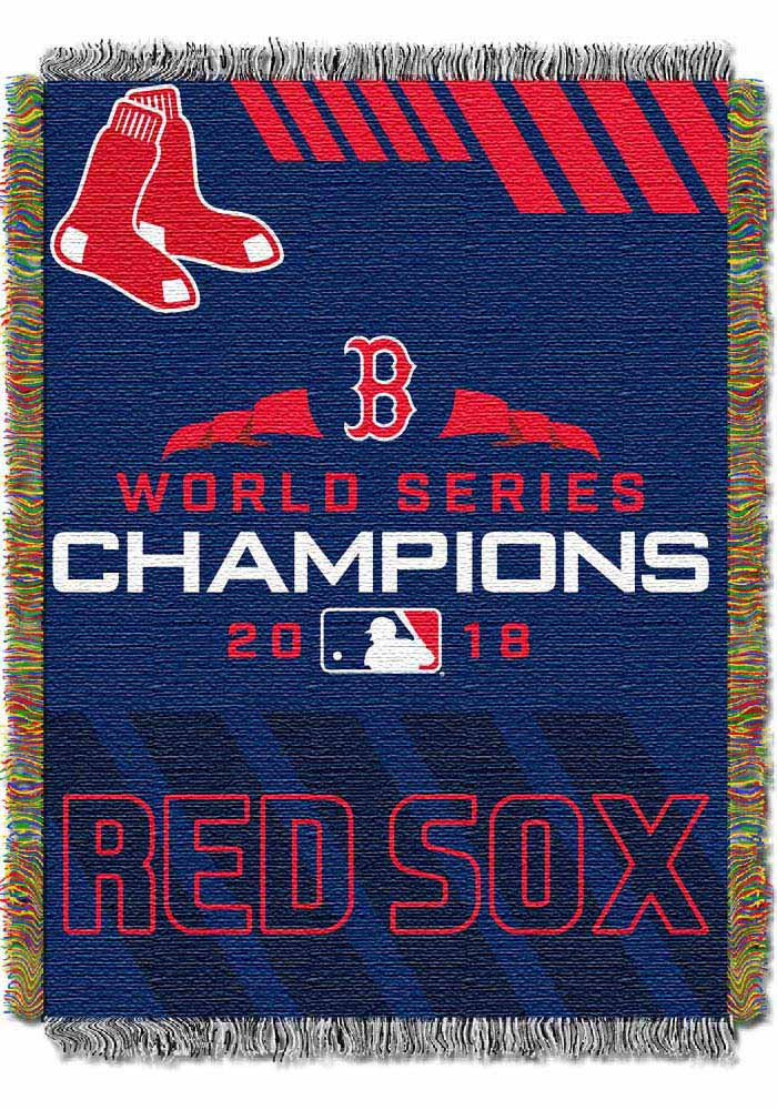 Boston Red Sox 2018 World Series Champions Tapestry Blanket - Image 1