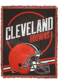Cleveland Browns Read Option 46x60 inch Jacqaurd Tapestry Blanket