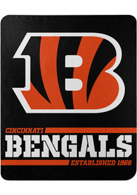 Cincinnati Bengals Split Wide 50x60 inch Fleece Blanket