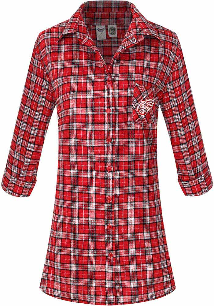 Detroit Red Wings Womens Red Ovation Loungewear Sleep Shirt - Image 1