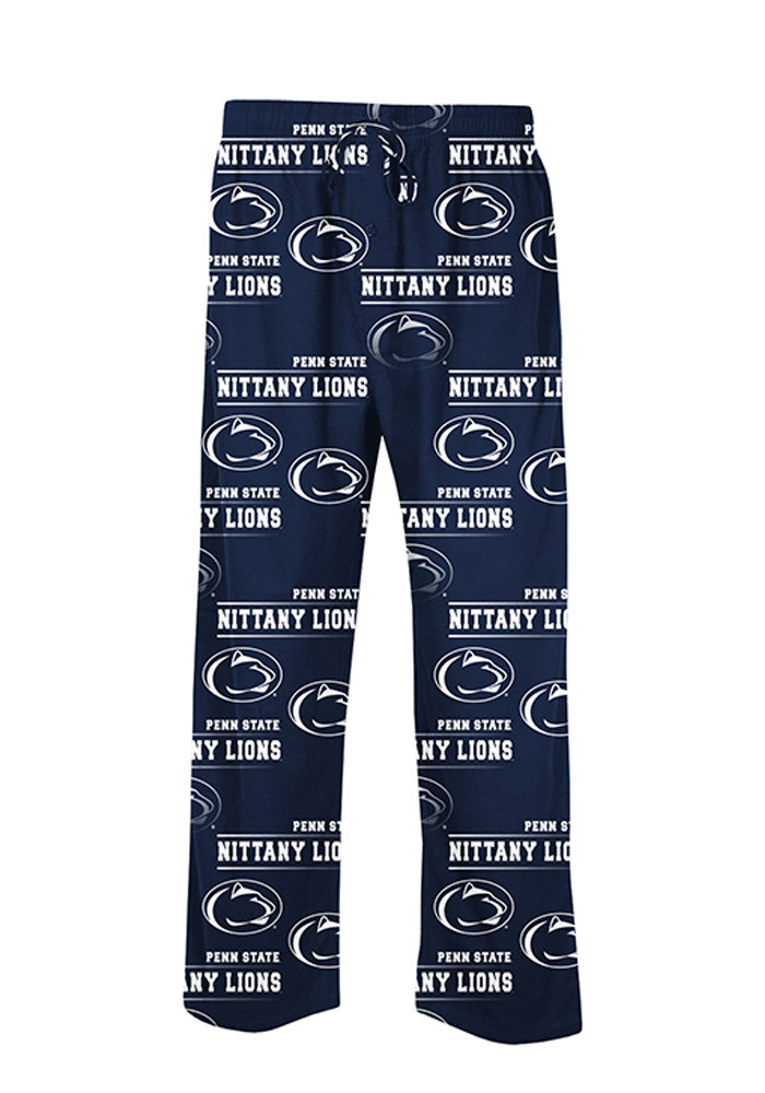 Penn State Nittany Lions Mens Navy Blue Fusion Sleep Pants - Image 1