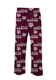 Texas A&M Mens maroon Fusion Sleep Pants