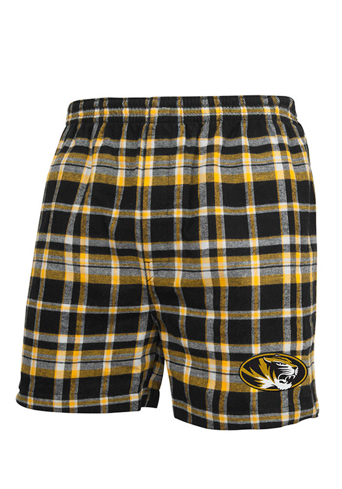 Missouri Tigers Mens Black Bleacher Boxer Shorts - Image 1