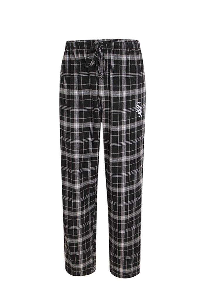 Chicago White Sox Mens Black Ultimate Flannel Sleep Pants - Image 1