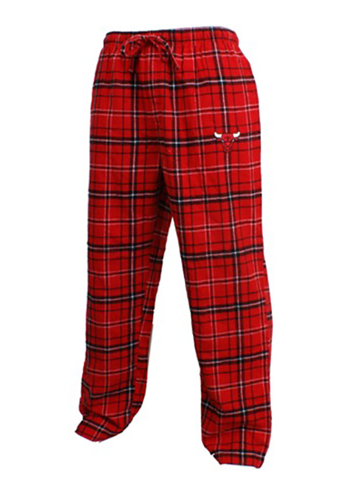 Chicago Bulls Mens Red Ultimate Flannel Sleep Pants - Image 1